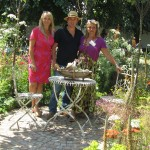 EGS Alumni Vicky Truman, Liz Rentzsch, Marcus Foster and their silver medal garden at Hampton Court Show 2013