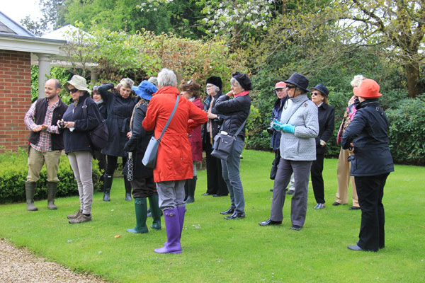 Keen gardeners from North Carolina USA on a EGS garden tour in Hampshire