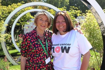Ruth Willmott and her Breast Cancer Now Garden Through the Microscope Web