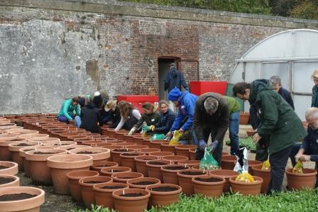 Good Gardening Diploma students' practical session at Arundel Castle 2019.  Photo by Richard Dunkley from his Arundel Year project