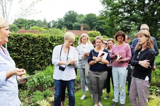 EGS students learning from B Brooks' garden The Coach House at Chiddingfold